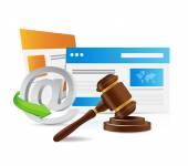 Internet laws concept illustration — Stock Photo