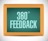 360 feedback board sign illustration — Stockfoto