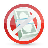 No money symbol illustration design — Stock Photo