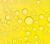 Yellow atom link network illustration — Stock Photo