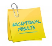 Exceptional results memo post — Stock Photo