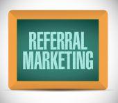 Referral marketing sign board — Stock Photo