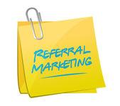 Referral marketing memo post — Stock Photo