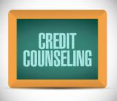 Credit counseling board illustration — Stock Photo