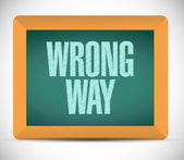 Wrong way board sign illustration design — Stock Photo
