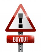 Buyout warning sign illustration design — Stock Photo