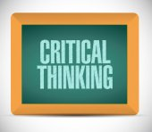 Critical thinking board sign illustration — Stock Photo