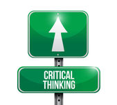 Critical thinking street sign illustration — Stock Photo