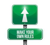 给自己制定规则路牌 — 图库照片
