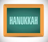 Hanukkah board sign message — Stock Photo