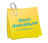 Happy anniversary memo post — Stock Photo