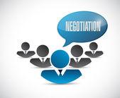 Negotiation people network illustration — Stock Photo