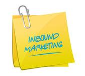 Inbound marketing memo post — Stock Photo