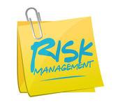 Risk management post it illustration design — Stock Photo
