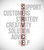 Service selection illustration design — Stock Photo