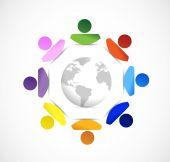 Diversity around the globe. illustration — Stock Photo