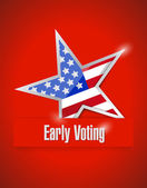 Us early voting patriotic illustration — Stock Photo