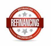 Refinancing red seal illustration design — Stock Photo