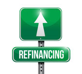 Refinancing street sign illustration design — Stock Photo