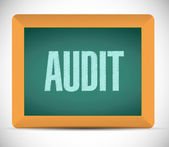 Audit board sign illustration design — Stock Photo