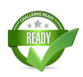 Challenge ready seal illustration design — Stock Photo