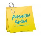 Fashion show memo illustration design — Stock Photo