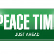 Peace time street sign illustration design — Stock Photo #62285849