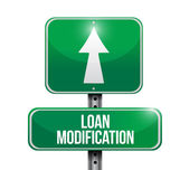 Loan modification street sign illustration — Stock Photo