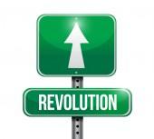 Revolution street sign illustration — Stockfoto