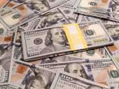New one hundred dollars pile — Stock Photo