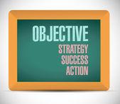 Objective steps on a board illustration — Stockfoto