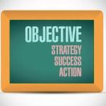 Objective steps on a board illustration — Stock Photo #62449847