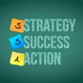 Strategy, success and action illustration design — Stock Photo