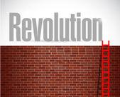 Clime to revolution. illustration design — Photo