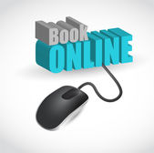 Book online mouse concept illustration — Stock Photo