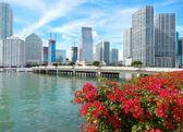 Miami, Florida, USA Brickell Key and Brickell Key — Stock Photo