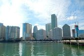 Downtown Miami view along Biscayne Bay — Stock Photo
