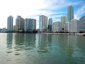 Downtown Miami along Biscayne Bay — Stock Photo