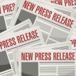 New press release illustration design — Stock Photo #62921687