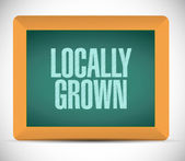 Locally grown board sign illustration — Stock Photo