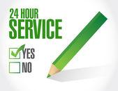 24 hour service check list illustration — Stock Photo