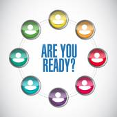 Are you ready people message illustration — Stock Photo