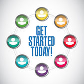Get started today people network — Stock Photo