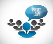 Payday loan people sign illustration design — Stock Photo