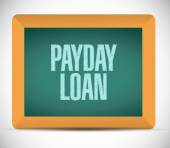 Payday loan board sign illustration design — Stock Photo
