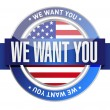 We want you usa seal illustration design — Stock Photo #63442825