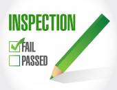 Fail inspection check list illustration design — Stock Photo