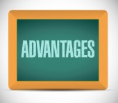Advantages board sign illustration design — Stock Photo