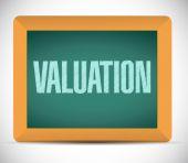Valuation board sign illustration design — Stock Photo