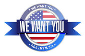 We want you usa seal illustration design — Stock Photo